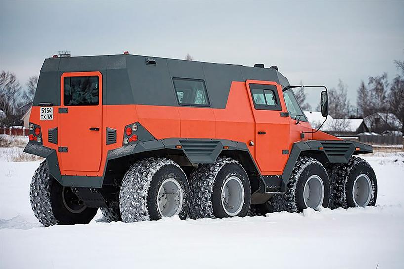 The Avtoros Shaman 8x8 Is An Amphibious All Terrain Vehicle