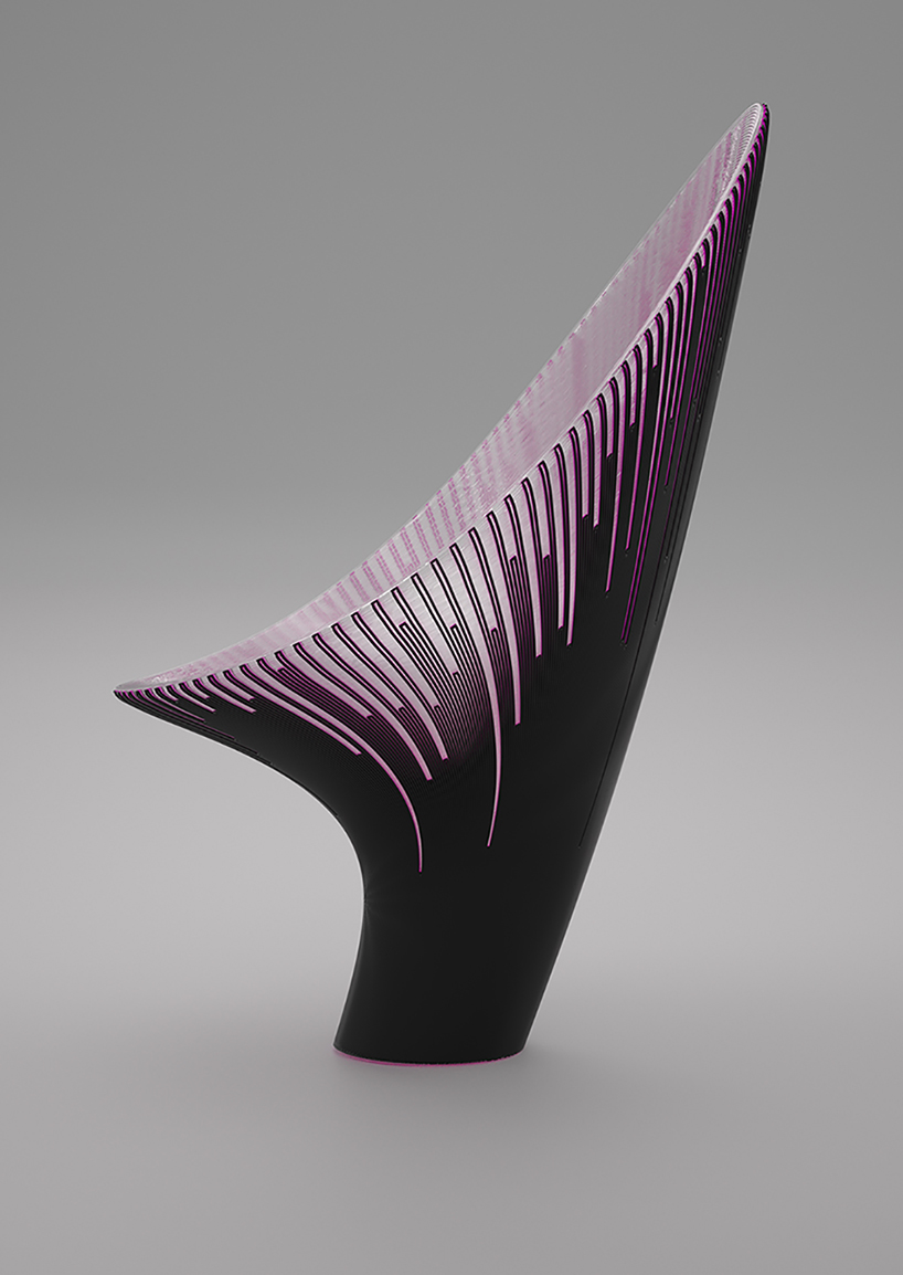 four chairs furniture ergonomic chair adelaide nagami launches 3d-printed by zaha hadid architects, ross lovegrove + daniel widrig