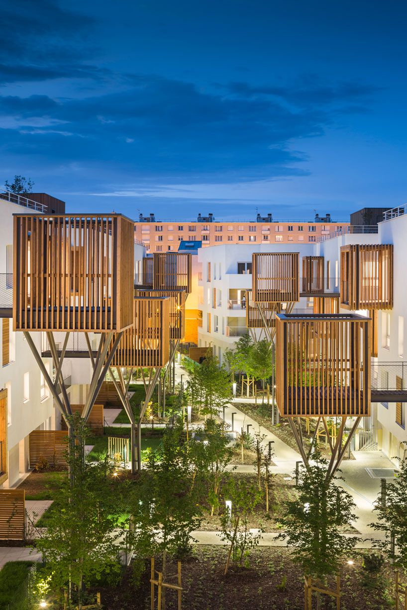 apartment complex by brenac  gonzalez is a fragmentation of built mass