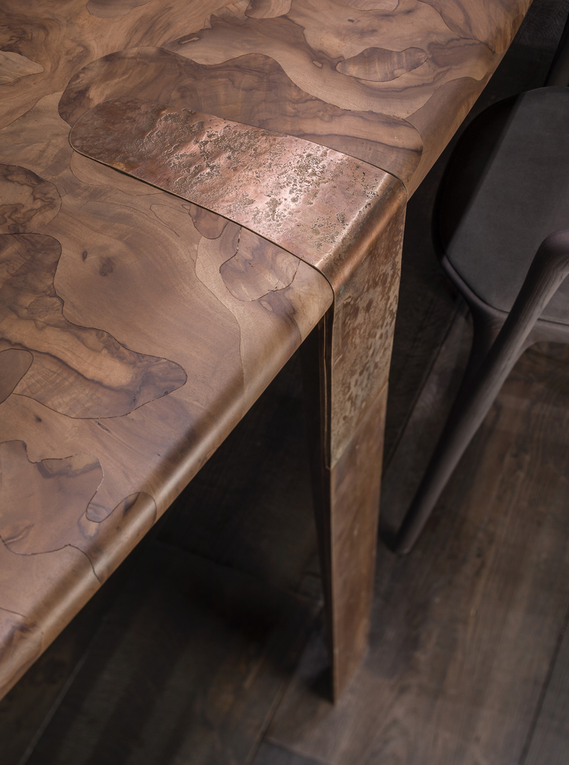 Henge Handcrafts Oxymoron Dining Table With Micro Mosaic