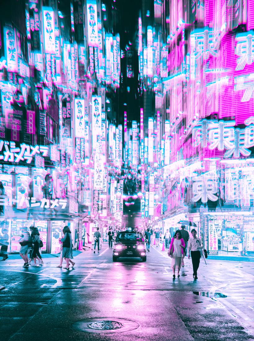 Vaporwave Wallpaper Girl Steve Roe S Vaporwave Aesthetic Captures A Cyberpunk Urbanism