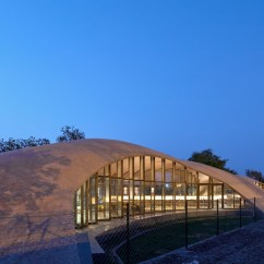 Roof Structure Diagram Vav Controller Wiring Sp+a Constructs Brick Vaulted Library For A School In India