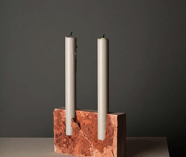 Snug Candle Holders By Sanna Volker Are Carved From  Million Year Old Stones