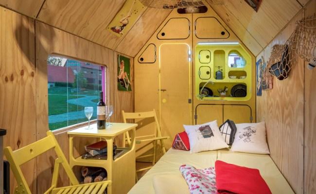 The Magenta Tiny House Is A Kitsch Interpretation Of