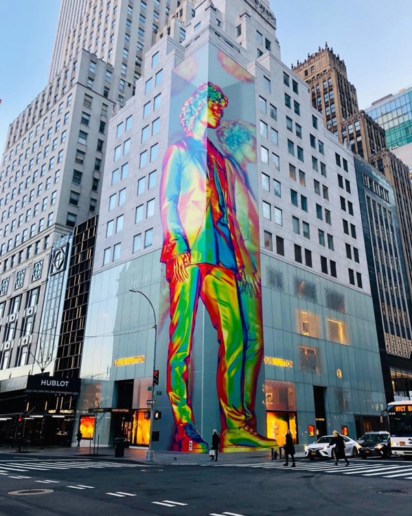 Virgil Abloh Unveils 12-story Technicolor Sculpture In Nyc
