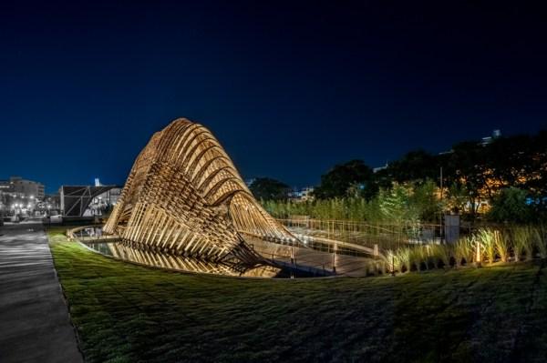 zuo studio's 'bamboo pavilion'