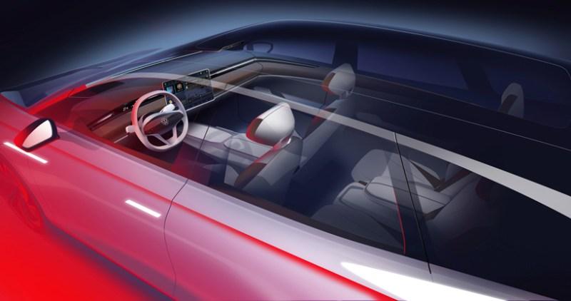 """Volkswagen wil zich richten op duurzame grondstoffen in het interieur. Volgens de aankondiging zal in plaats van leer een materiaal genaamd """"AppleSkin"""" worden gebruikt - een kunstleer waarvoor onder andere restmaterialen uit de appelsapproductie worden gebruikt. De seriële versie wordt eind 2021 geïntroduceerd en zal in verschillende versies verkrijgbaar zijn in Noord-Amerika, Europa en China."""