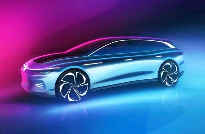 Volkswagen heeft de eerste renderings van het ID vrijgegeven. Space Vizzion en zal het concept officieel presenteren op 19 november in Los Angeles Auto Show. De batterij-elektrische stationwagen wordt eind 2021 gepresenteerd als productievoertuig.