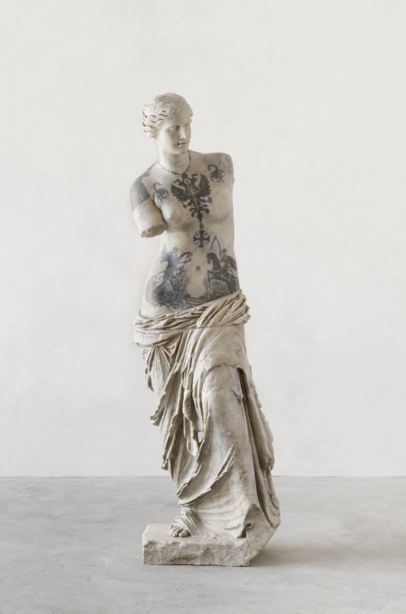 Marble Statue Tattoo : marble, statue, tattoo, Italian, Artist, Fabio, Viale, Tattoos, Classical, Marble, Sculptures