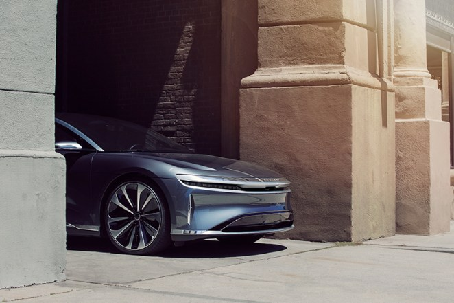 lucid air is a 500-mile range electric sedan that charges in minutes
