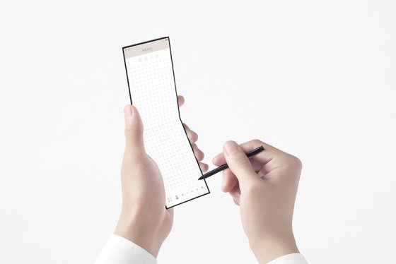 nendo reveals a credit card phone as OPPO unfolds in three screens