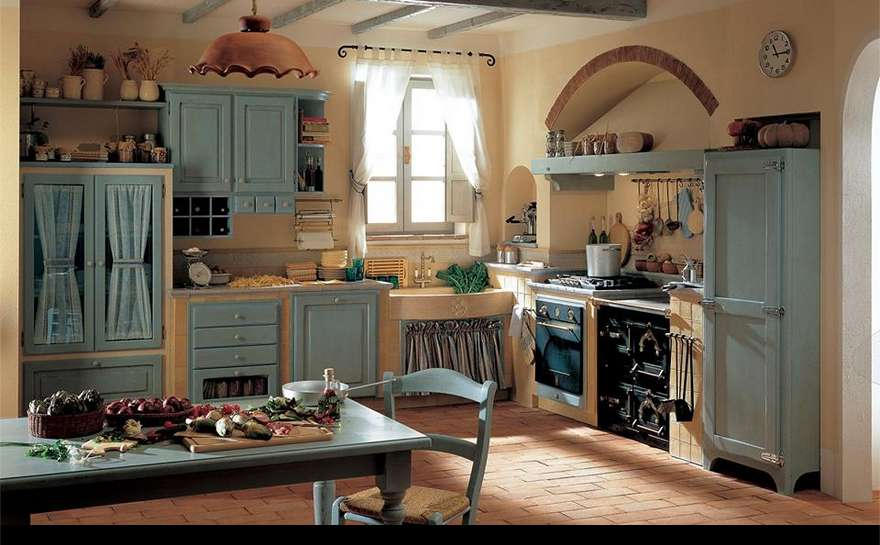 Arredare la cucina in stile country chic Foto  Design Mag