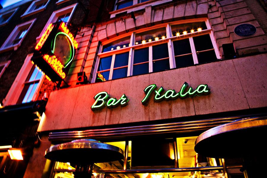 Bar Italia Soho London Menus Reviews Opening Hours  DesignMyNight