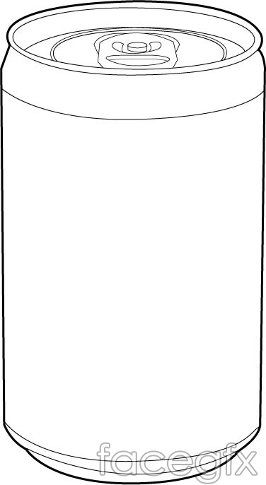 Empty Cans Vector Bottle Line Drawing For Free Download