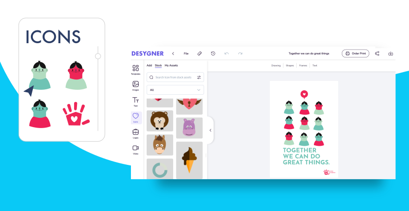 create a poster online with desygner