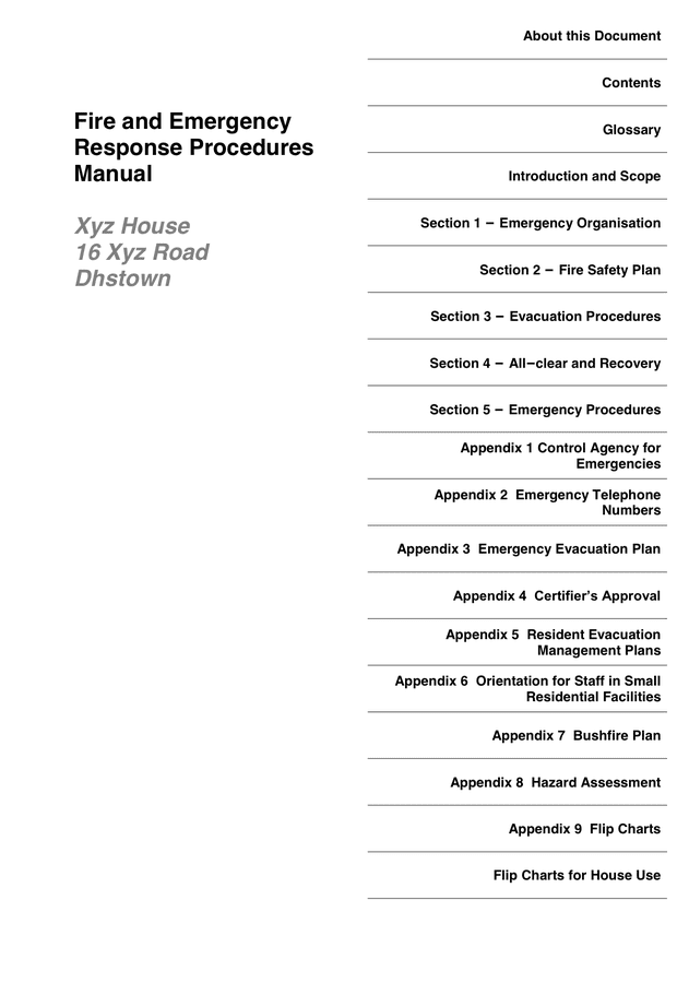 Table Of Contents Template Download Free Documents For
