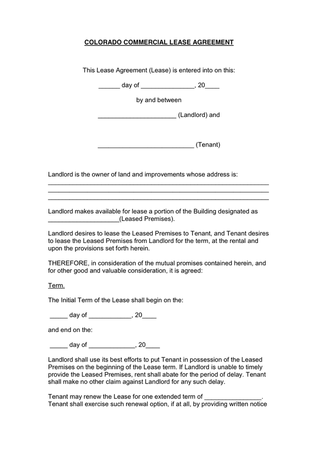 Agreement To Rent Or Lease Curriculum Vitae Cv Samples