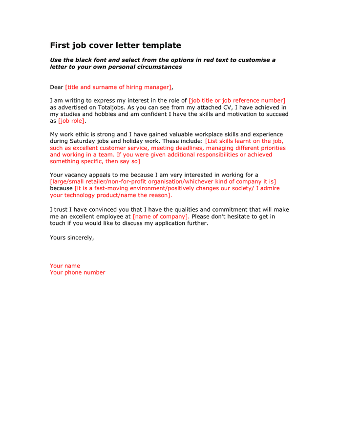 Cover Letter Sample Addressing Current Unemployment