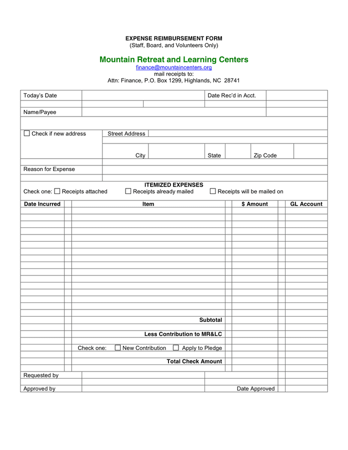 Expense claim form template is a pre made document produced by professionals to assist people like you in process of expanse claim form making. 101 Sample Word Expense Reimbursement Form In Word And Pdf Formats