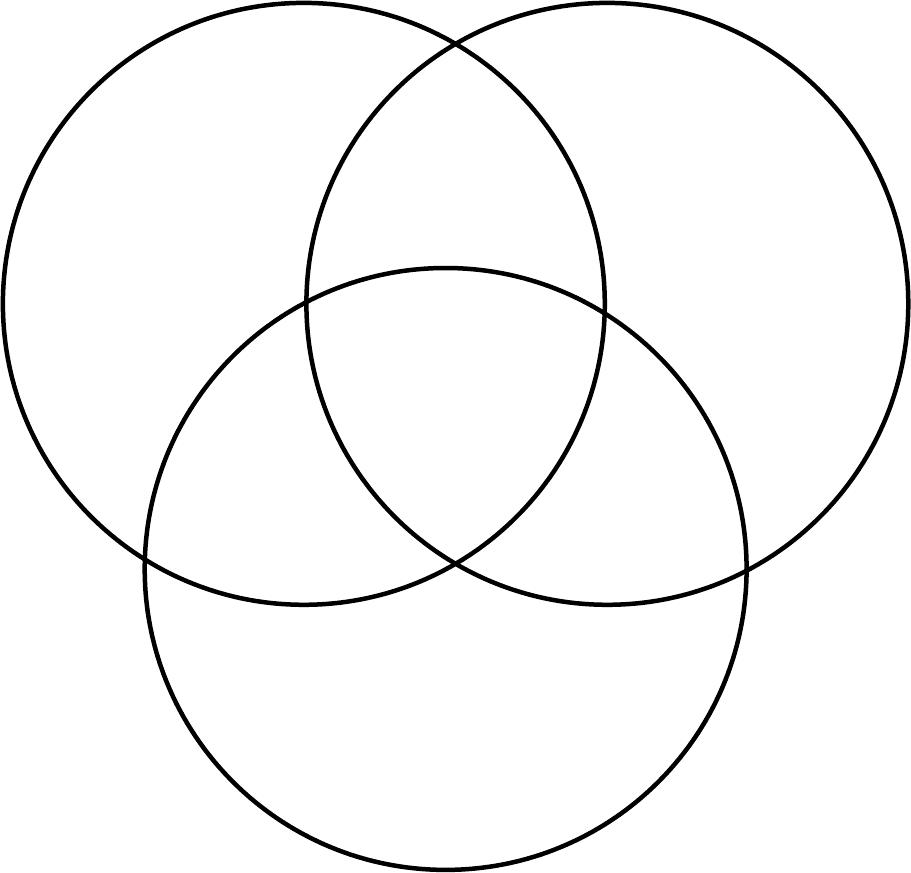 Venn Diagram Sample in Word and Pdf formats