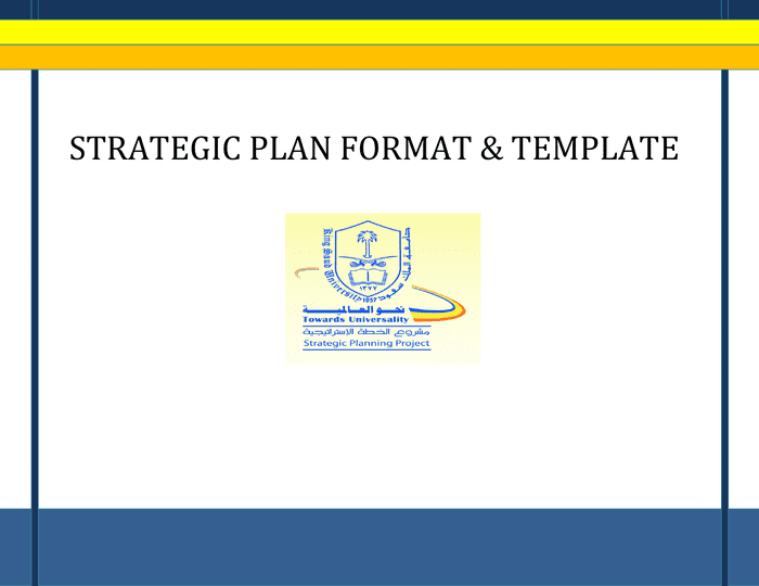Strategic Plan Format And Template In Word And Pdf Formats