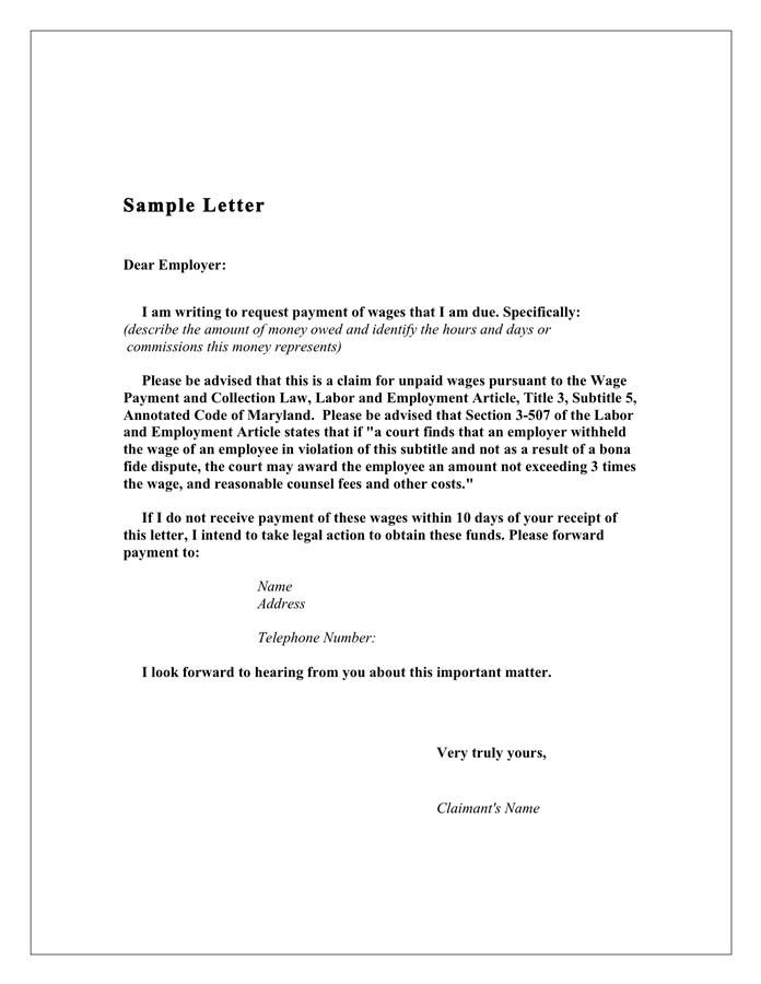 Demand letter for money owed fieldstation demand spiritdancerdesigns Gallery