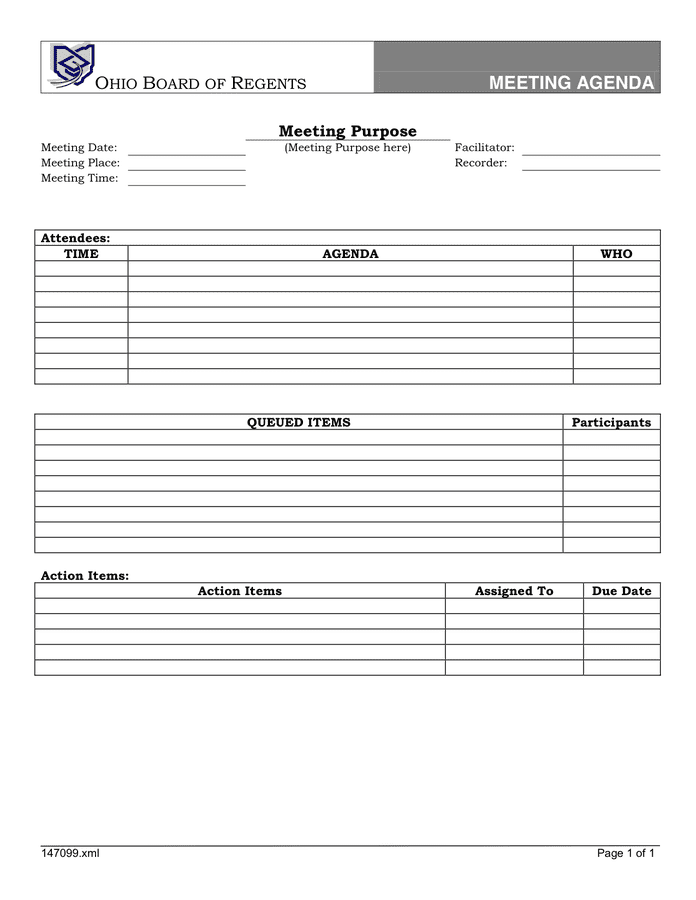 23/06/2020· therefore, below the meeting agenda template, you can have a section that attendees can include takeaways, decisions, take notes, and document action items. Meeting Agenda Template In Word And Pdf Formats