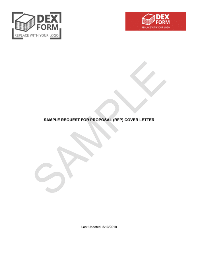 Sample RFP cover letter in Word and Pdf formats