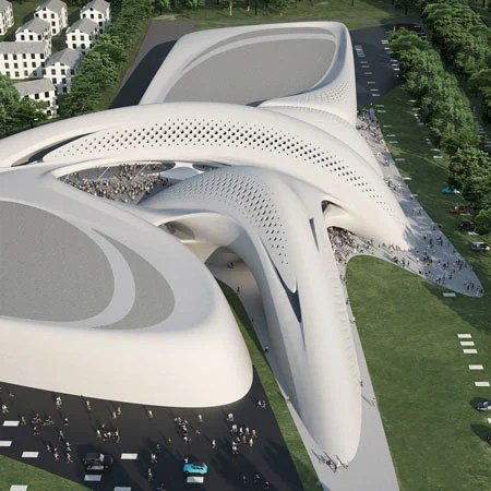 Zaha Hadid Architects have designed a retail and business centre for the resort of Jesolo near Venice in Italy. de zeen design magazine