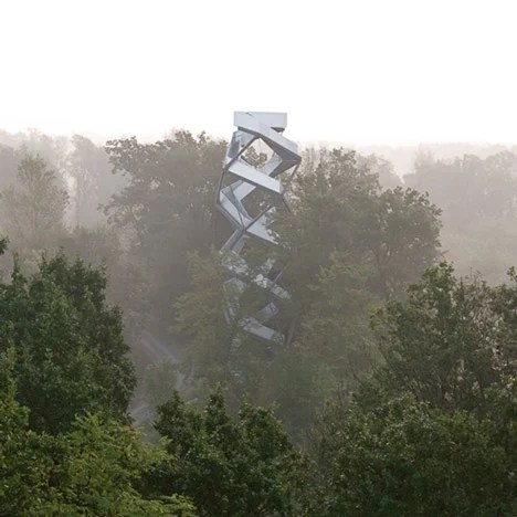 Observation Tower on the River Mur by terrain loenhart mayr