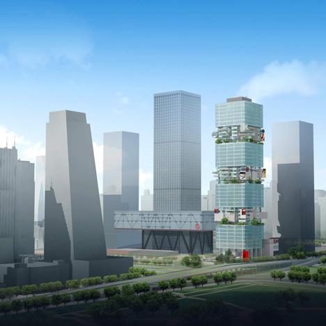 SBF Tower by Hans Hollein  Dezeen