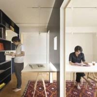 Privacidade em uma casa com paredes deslizantes