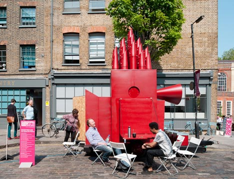 Pop Up Architecture in London - Tiny Travelling Theatre