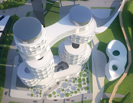 Velo Towers by Asymptote Architecture