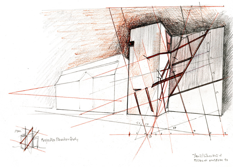 Architectural Drawings by Daniel Libeskind at Ermanno