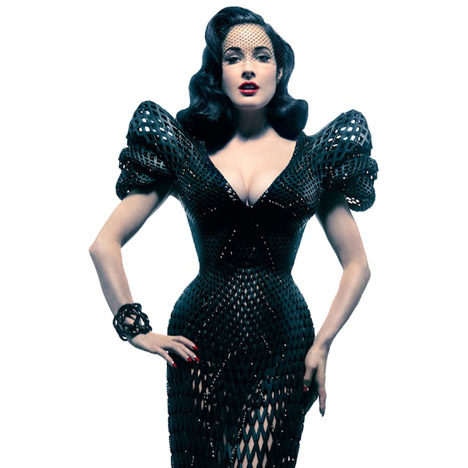 3D-printed dress for Dita Von Teese by Michael Schmidt and Francis Bitonti