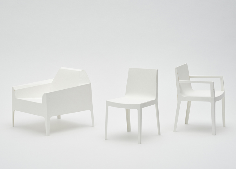 chair design model scoop back dining chairs 1 5 scale paper by taiji fujimori