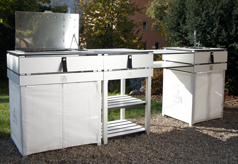 outside kitchen cabinets los angeles movie about outdoor kitchens at garden unique spoga gafa one of the brands showing a range this year s show was german company ocq nadine pollex says trend is due to