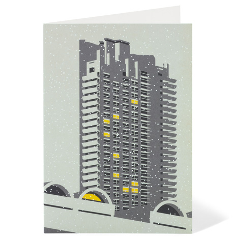Modernist London Christmas cards Barbican Dezeen competition