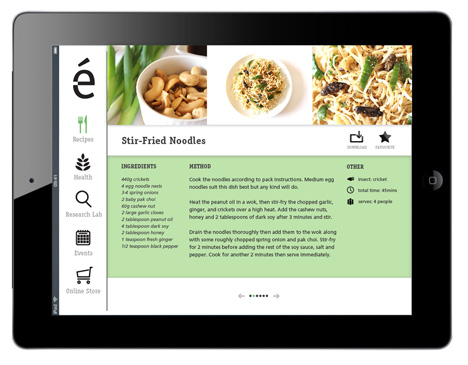 Entomo website design promotes insects as food