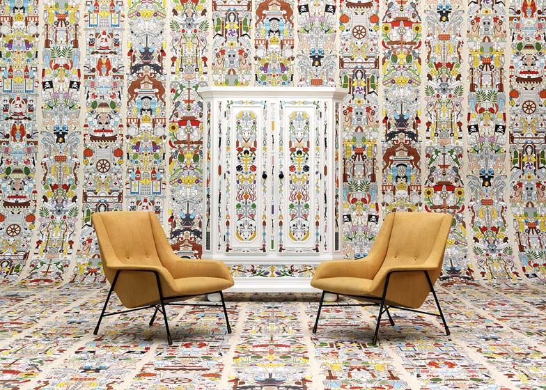 chair design wallpaper living room slipcovers nlxl launches archives by studio job at milan week
