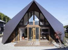 Origami House by TSC Architects has a roof modelled on ...