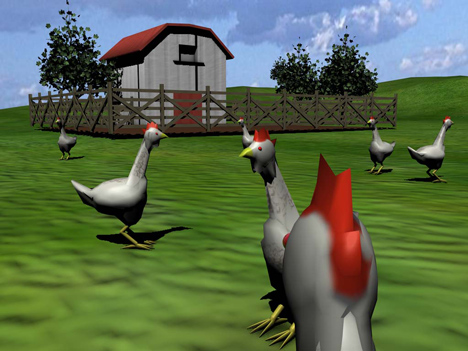 Second Livestock's virtual world for chickens
