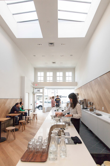 OpenScope Studio clads San Francisco cafe with wooden