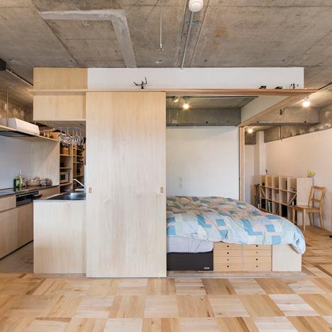 Yuichi Yoshida rezone apartment to section off sleeping space