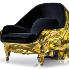 Skull Chair Modern Dining Chairs High Back Harow S Gold Plated Armchair Carries A 500k Price Tag 3 Of 5 24 Carat By Furniture