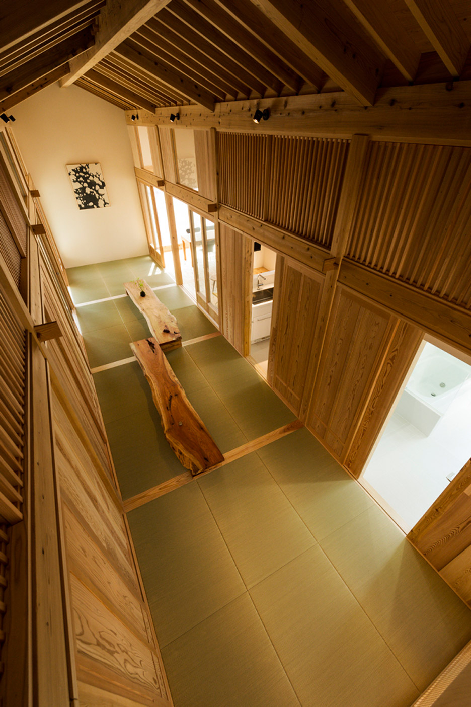 Tatami mats create gridded layout for Tokmotos Inari House