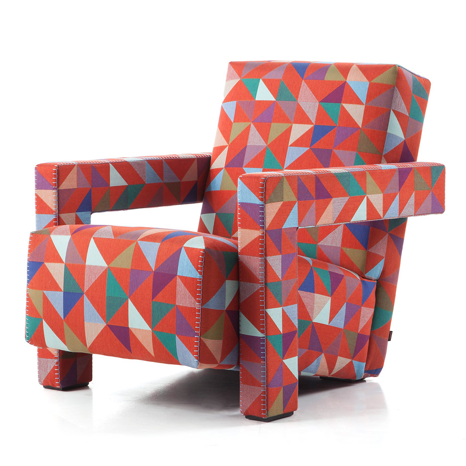 Bertjan Pot designs bespoke Jacquard textile for Cassina's iconic Utrecht armchair