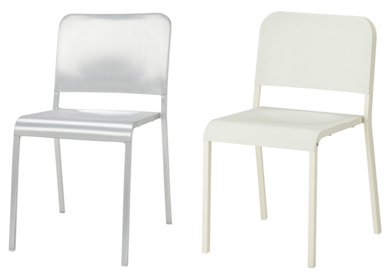 ikea metal chairs esp fishing chair settles with emeco over claims it copied a norman foster