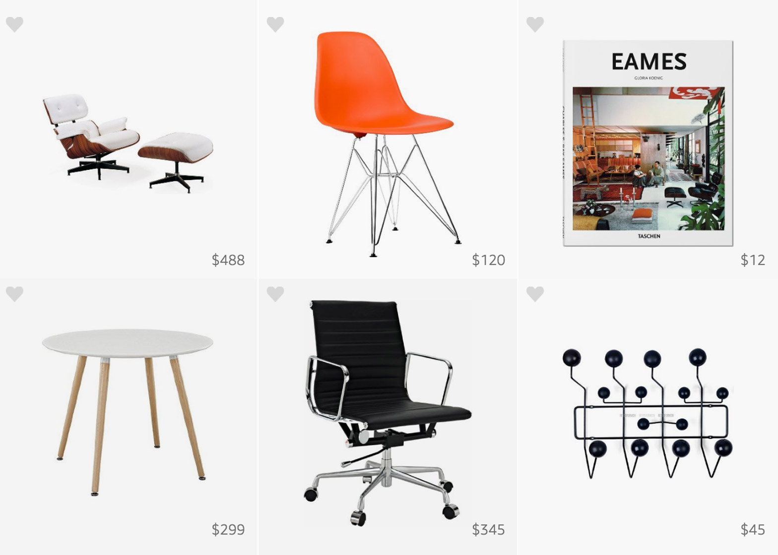 eames chair amazon white dining room chairs celebrates birthday with pinboard of knockoffs charles